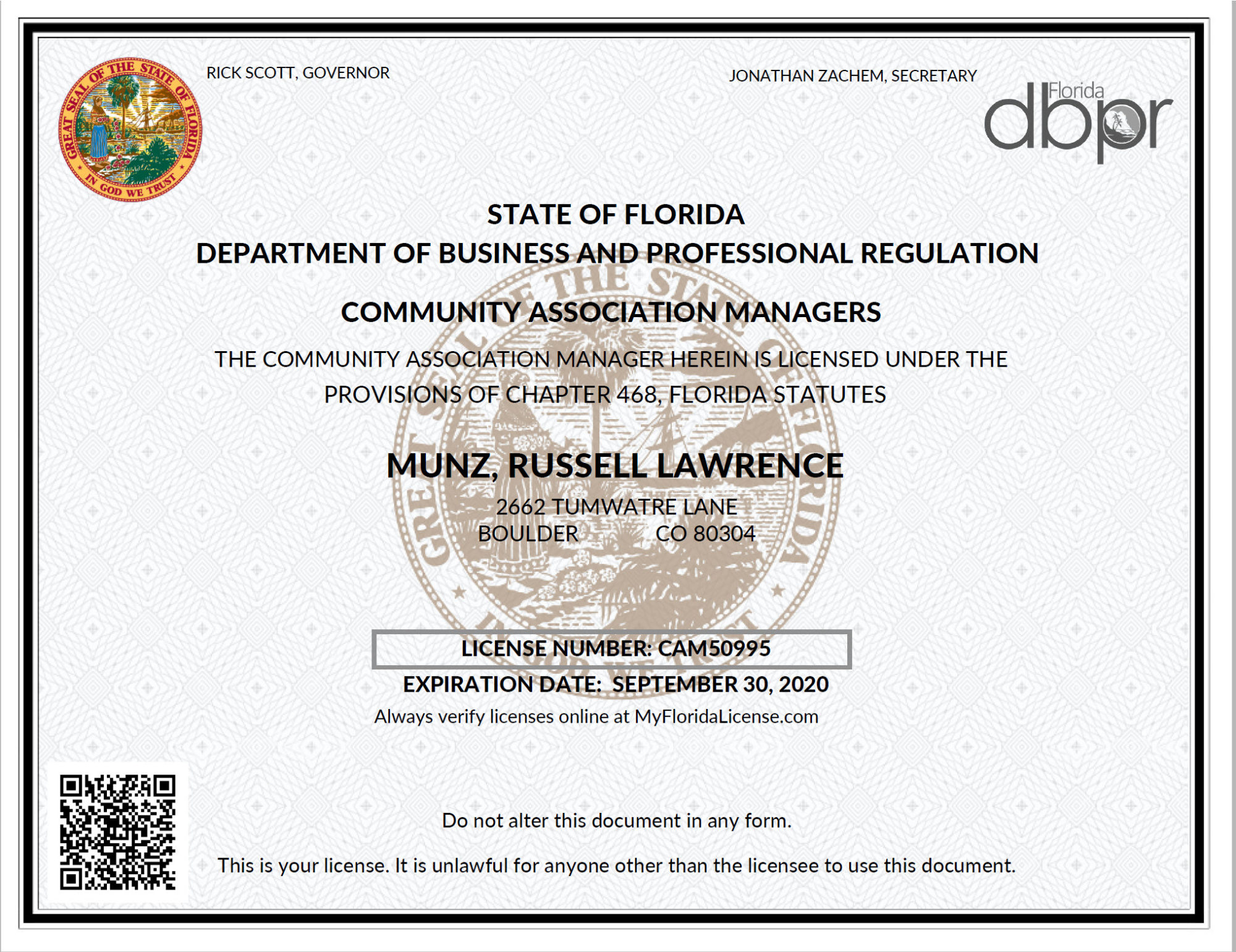 Professional Licensing Certification Community Financials